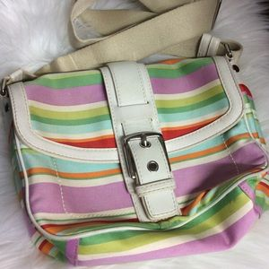 Coach Hobo Hampton Stripe